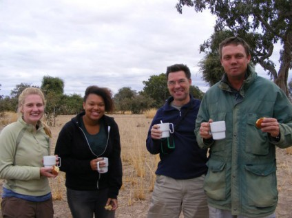 Game drive coffee South Luangwa, Zambia