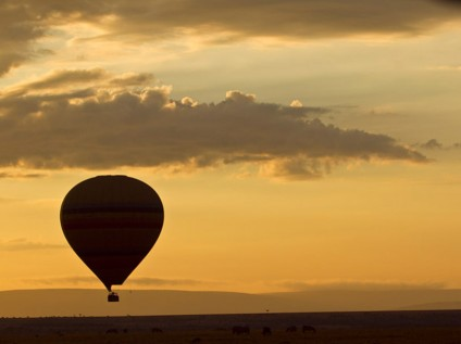 Balloon safari, Maasai Mara National Park, Kenya