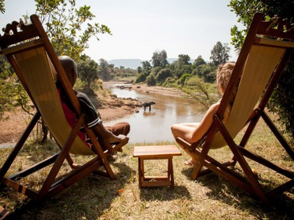 relaxing views, Sentinel Mara Camp, Maasai Mara National Park, Kenya