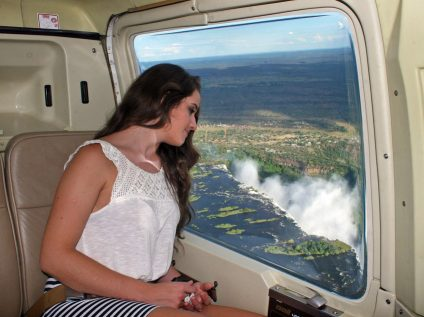 Flight of Angels helicopter flight over Victoria Falls, Zimbabwe