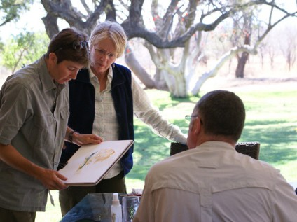 Art lesson in the bush in Madikwe, South Africa