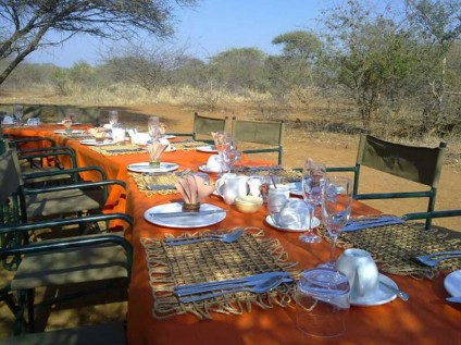 Bush lunch at the Bush House in Madikwe, South Africa