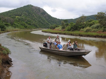 Boat excursion at Kariega Game Reserve, South Africa