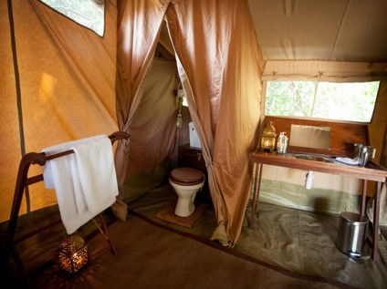 toilet, tent, Sentinel Mara Camp in Maasai Mara National Park, Kenya