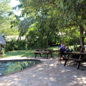 Bayete Guest Lodge, Victoria Falls, Zimbabwe - garden and pool