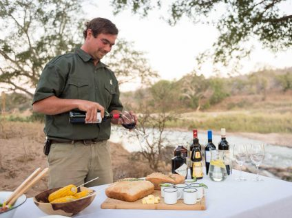 Kruger wilderness walking safari, Africa Geographic - Balule camp dining