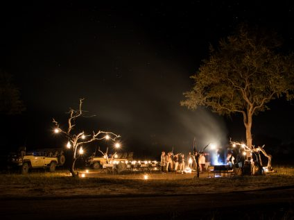 Nkorho Bush Lodge dinner